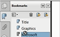 Create bookmarks in a PDF document thumbnail