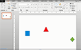 PowerPoint 2013 aligning shapes thumbnail