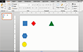PowerPoint 2013 distributing shapes thumbnail